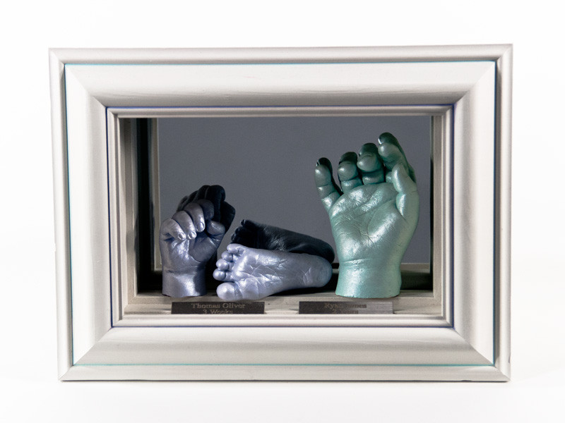 3D Triple Baby Casts in Mirror Display Box