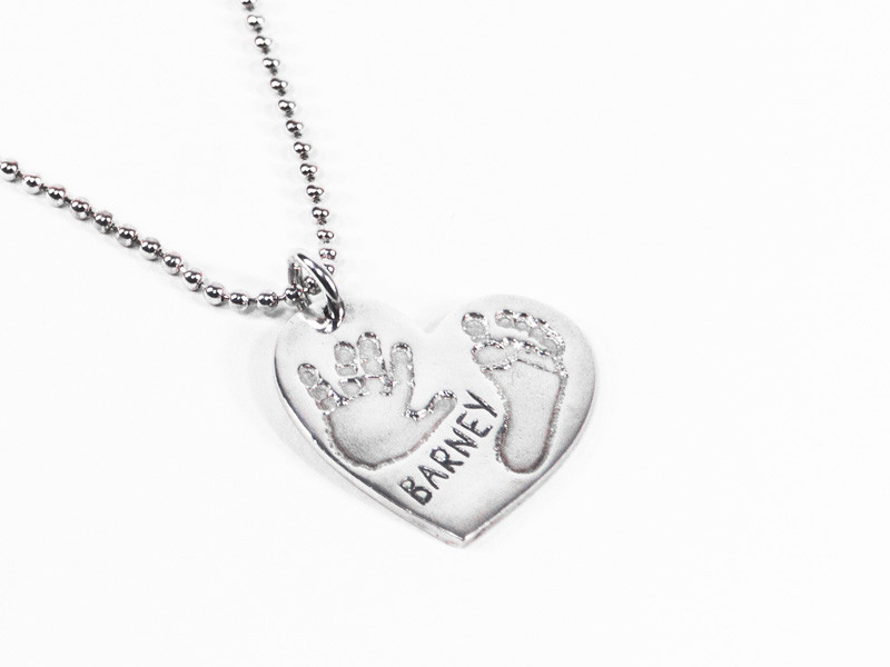 Heart Fingerprint or Imprint Pendant