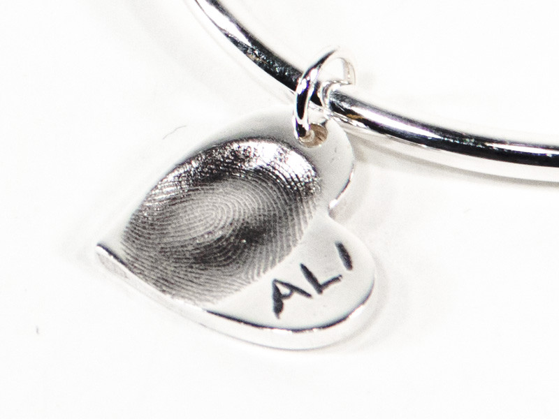 Heart Fingerprint or Imprint Charm