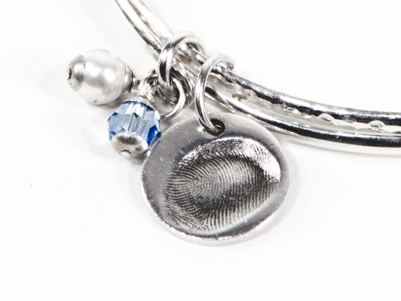 Circle Fingerprint or Imprint Charm