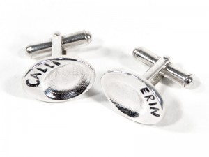 Fingerprint or Imprint Cufflinks in Oval Shape