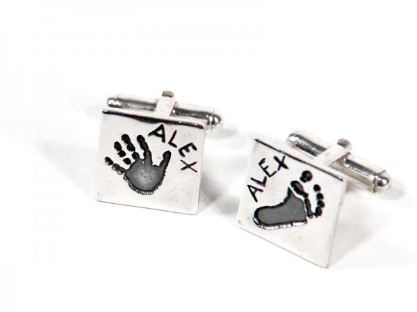 Square Fingerprint or Imprint Cufflinks