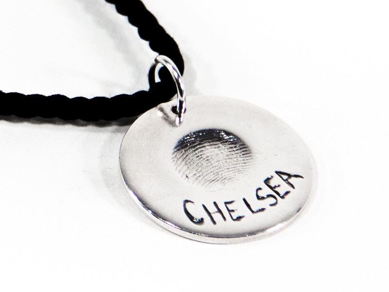 Circle Fingerprint or Imprint Pendant