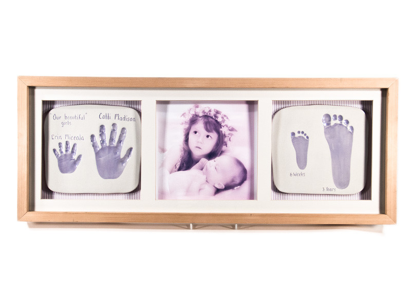 Two Double Ceramic Baby Imprints with Photo