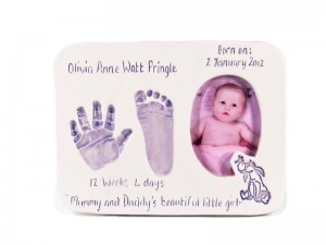 Double Ceramic Baby Photo Imprint