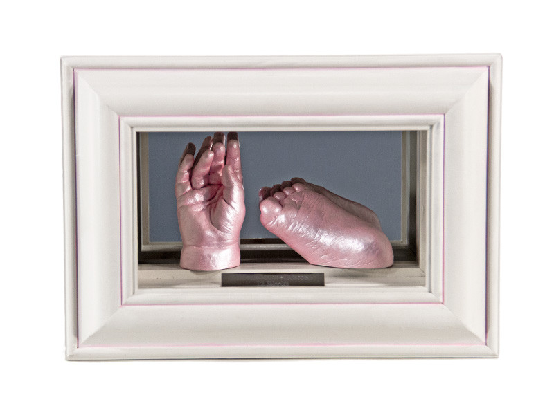 3D Baby Double Casts in Mirror Display Box- By Calli's Corner