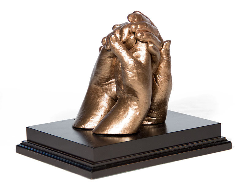 3D Holding Hands Multi Castings on Plinth