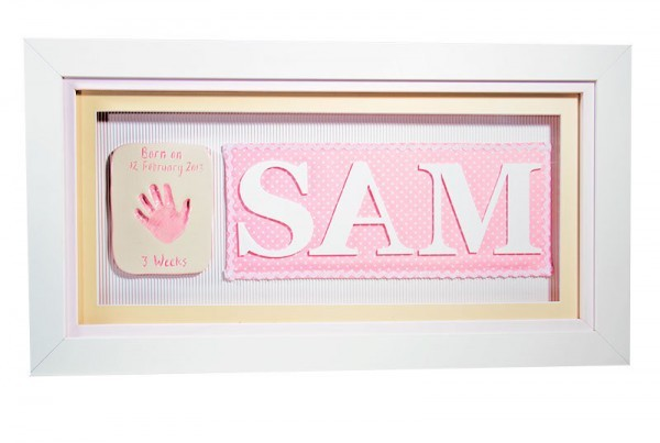 Single Ceramic Baby Imprint with Name