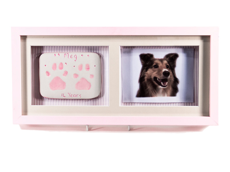 Double Ceramic Paw Imprint With Photo