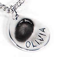 fingerprint jewellery oxidised-finish