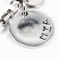 fingerprint jewellery standard thickness pendant