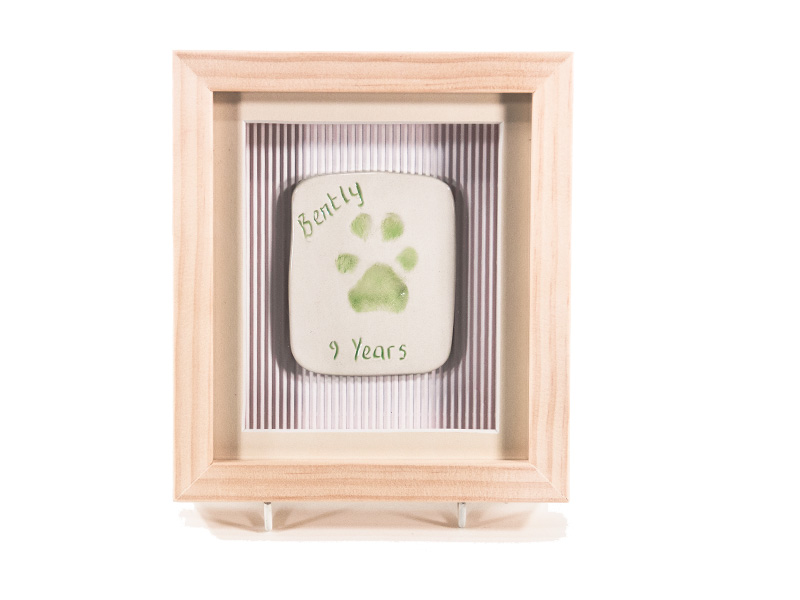 Single Ceramic Paw Imprint