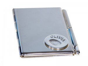 Fingerprint or Imprint Notebook Holder with Pen