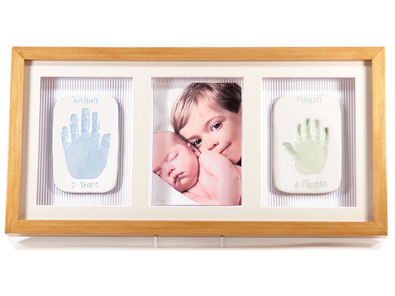 Two Single Ceramic Baby Imprints with Photo