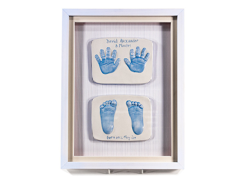 Two Double 2D Ceramic Baby Impressions
