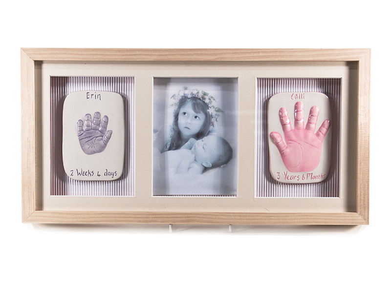 Two Single 2D Ceramic Baby Impressions with Photo