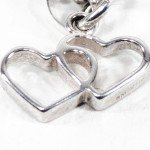 Double Linked Hearts Charm