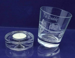 Whisky Tumbler off its base - Tealight holder